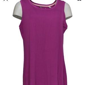 Isaac Mizrahi Live! sleeveless knit Midi Dress  2X